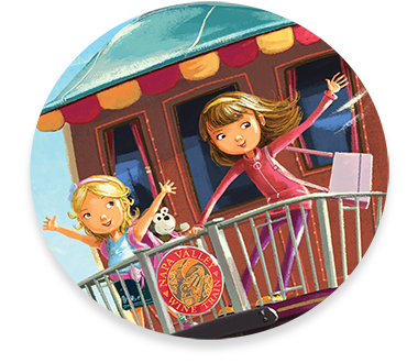 Illustration from Maggie and Maddy: Adventures in Napa Valley—Callawind specializes in children's picture book publishing