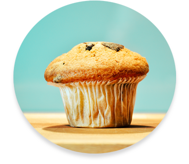 Homemade chocolate chip muffin—Callawind specializes in fundraising cookbook publishing