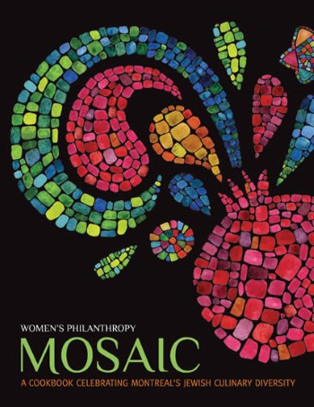 Mosaic Cookbook front cover—Client testimonial from Kim Garzon, Fundraising Cookbook Director